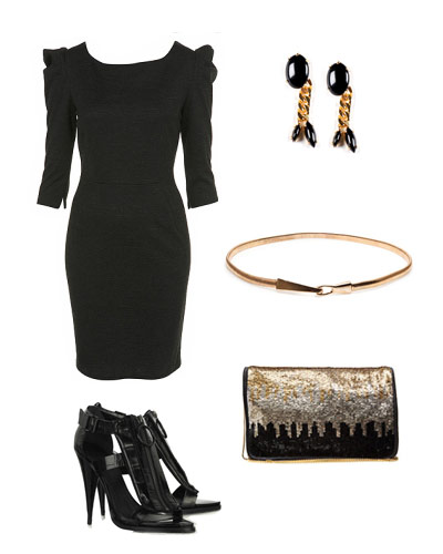 Complementos para vestido negro lentejuelas