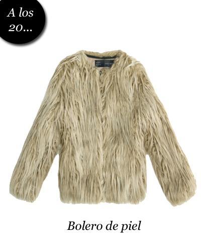 8c1e21663fd12 Bolerito de pelo largo de  b Zara  b  - TELVA