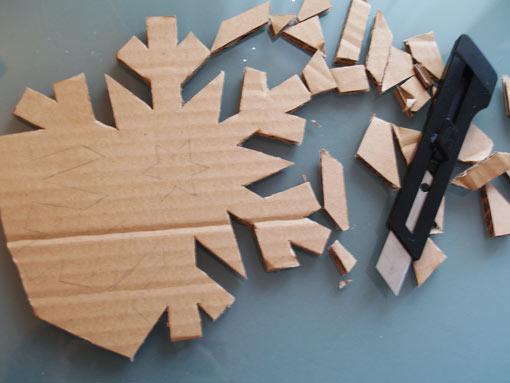 Dale forma a los copos de cartón - TELVA