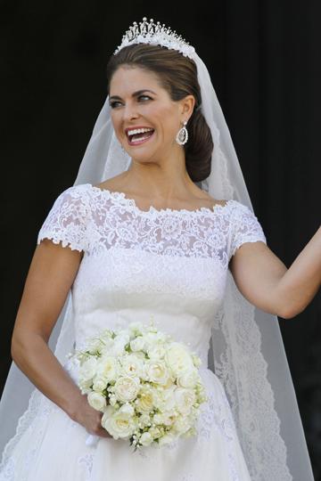 El vestido de novia de Magdalena de Suecia - TELVA