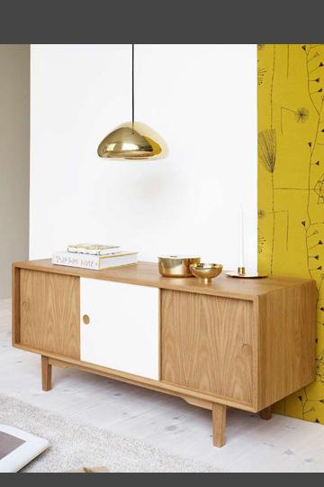 mueble de madera en dos colores