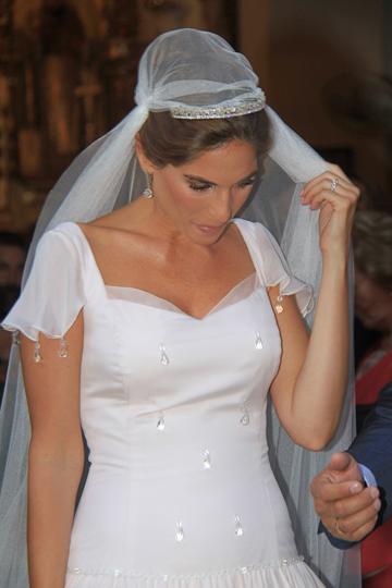 Lourdes Montes vestida de novia. - TELVA