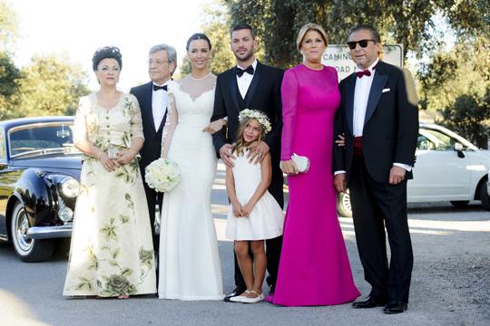 Los padres de René Ramos y Vania Millán en su boda - TELVA