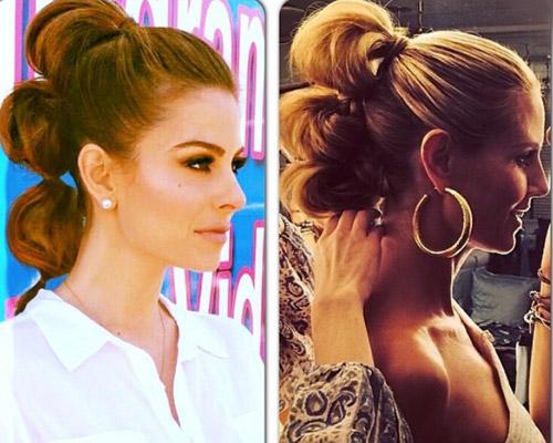 bubble ponytail a todo volumen por maria menounos telva