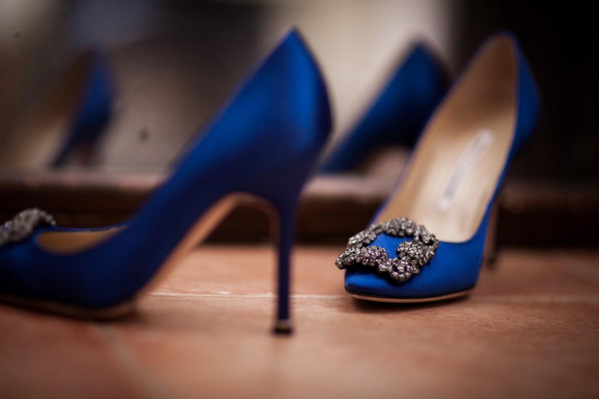 Zapatos para vestido azul boda