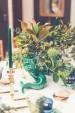 Detalles florales sobre la mesa de Navidad de Jo Malone.