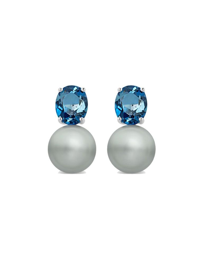 aaad6a75465f Pendientes con perlas Tahití - Joyas rosa cuarzo y azul serenity - TELVA.com