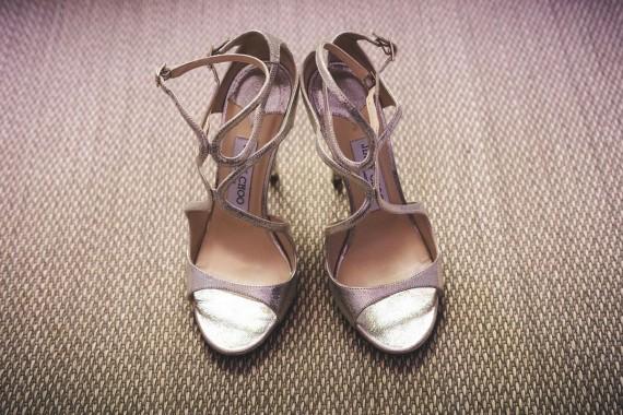 Sandalias con un toque glitter