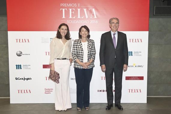 Olga Ruiz, María del Pino y Antonio Fernández-Galiano
