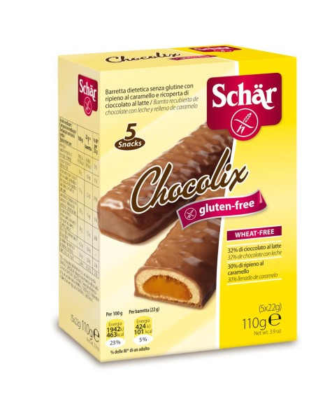 Chocolix de Schär: snack de galleta y chocolate