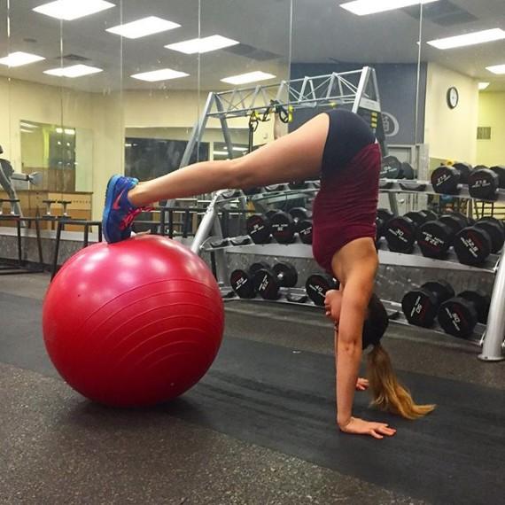 Ejercicio con swiss ball