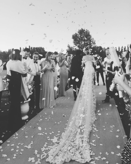 La novia compartía con sus seguidores esta intantánea tras acabar la ceremonia