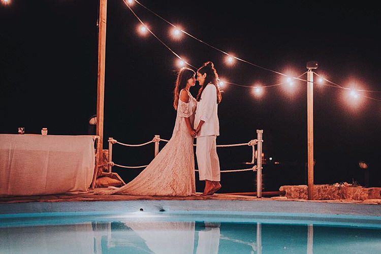 el segundo vestido - la boda de dulceida y alba paul - telva