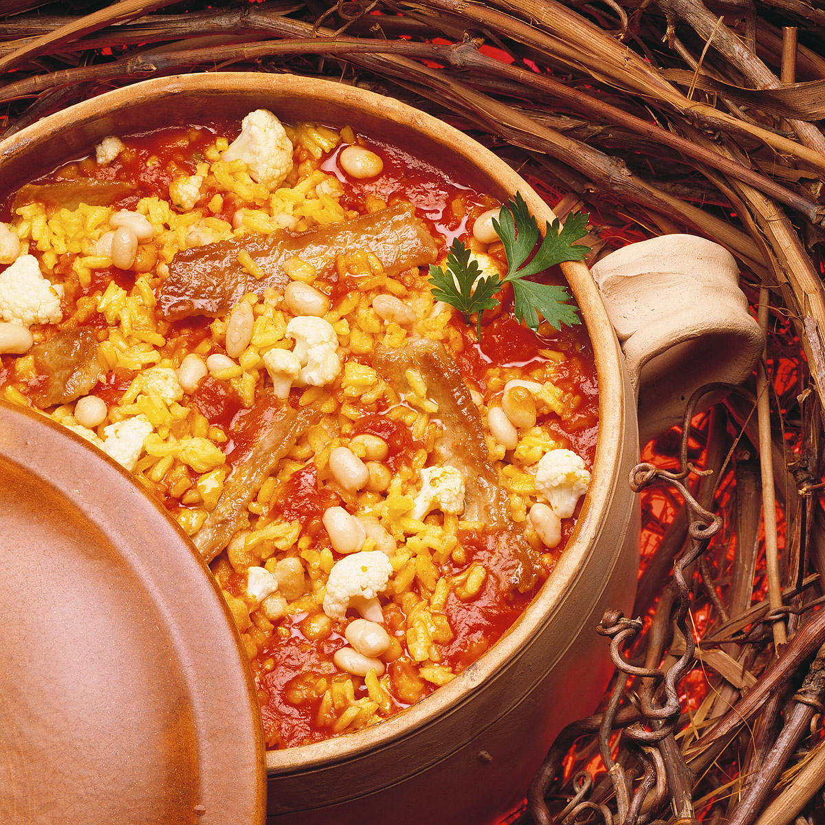 Arroz caldoso con costillas adobadas