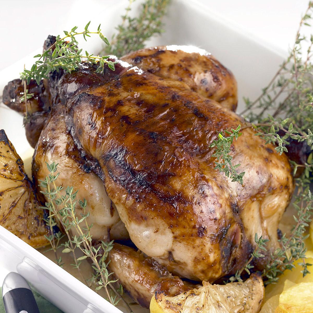 Pollo asado al aroma de tomillo