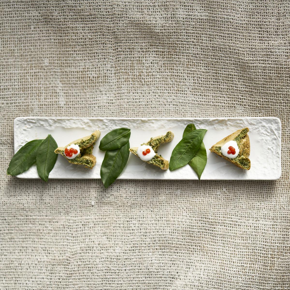 Muselina y pan de espinacas