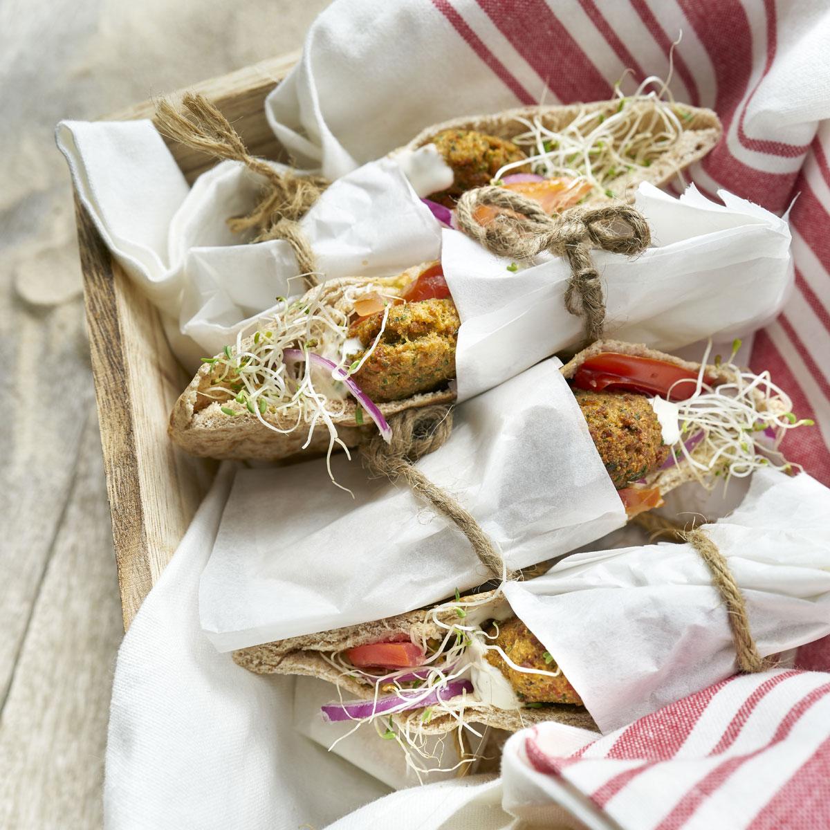Pitas de falafel