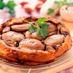 Tartaletas de setas al ajillo