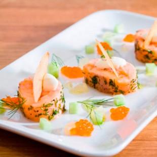 Terrina de salmón y espinacas