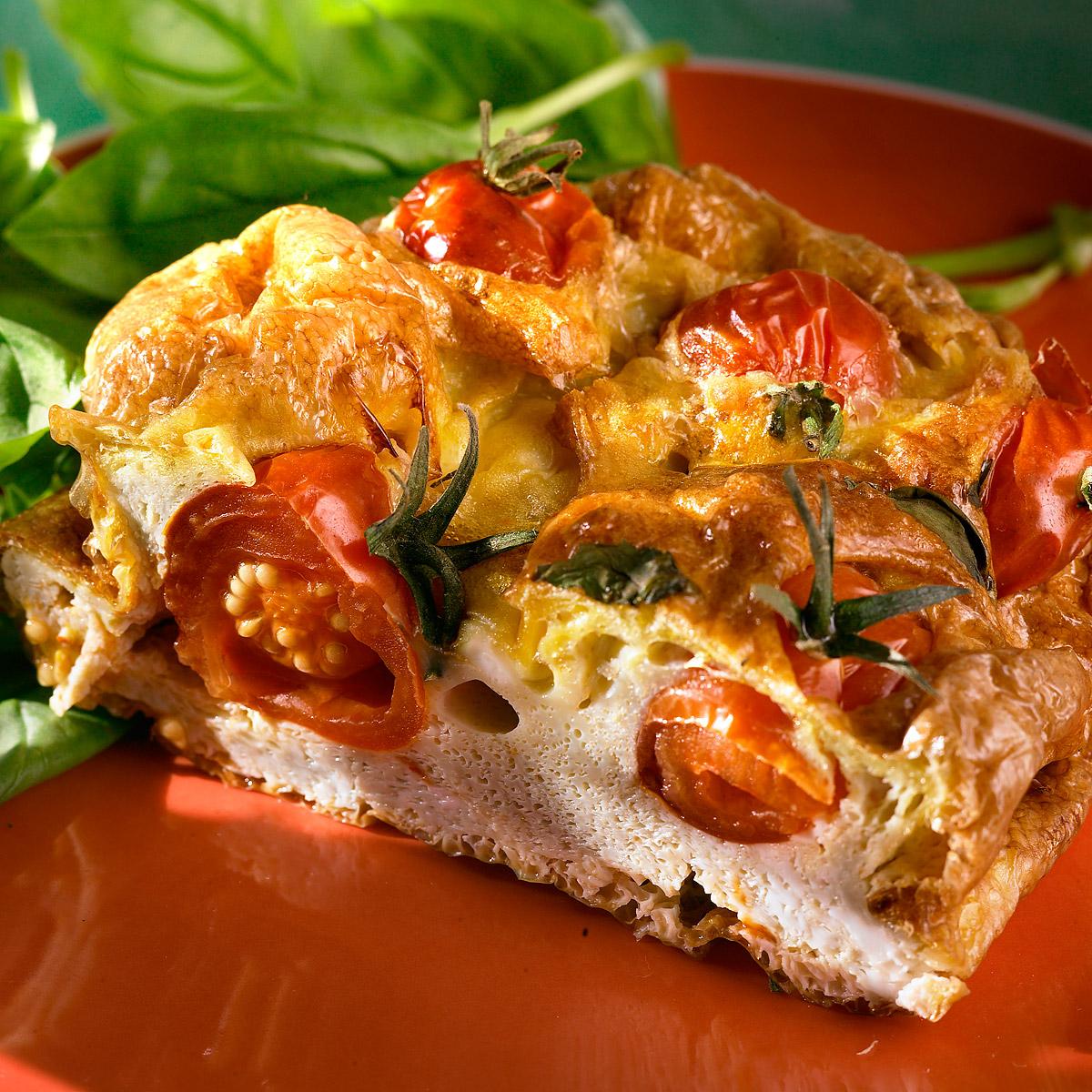 Tortilla de tomate y gorgonzola