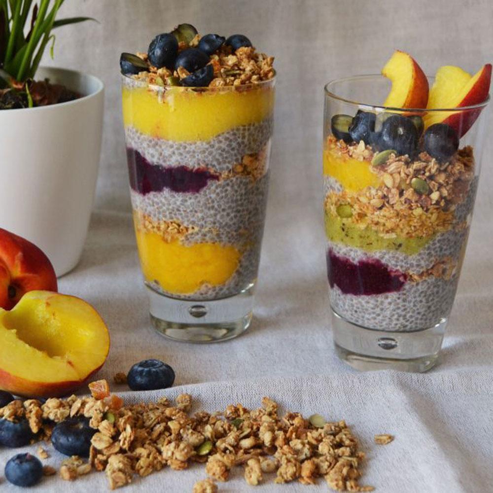 Granolas con frutas