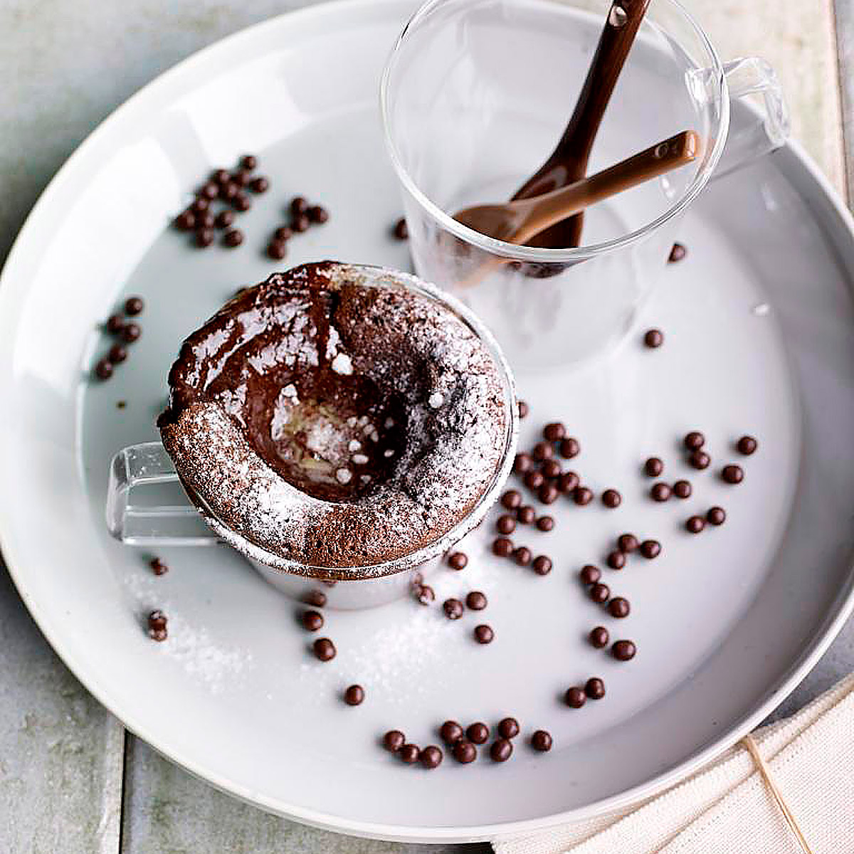 Soufflé coulant de chocolate