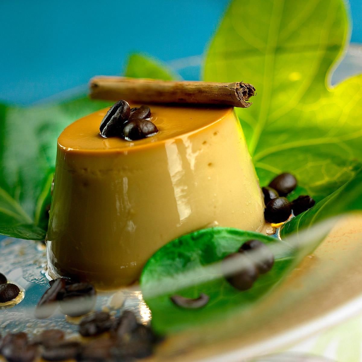 Flan de crema de café con mascarpone