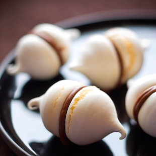 Macarons con crema de cacao
