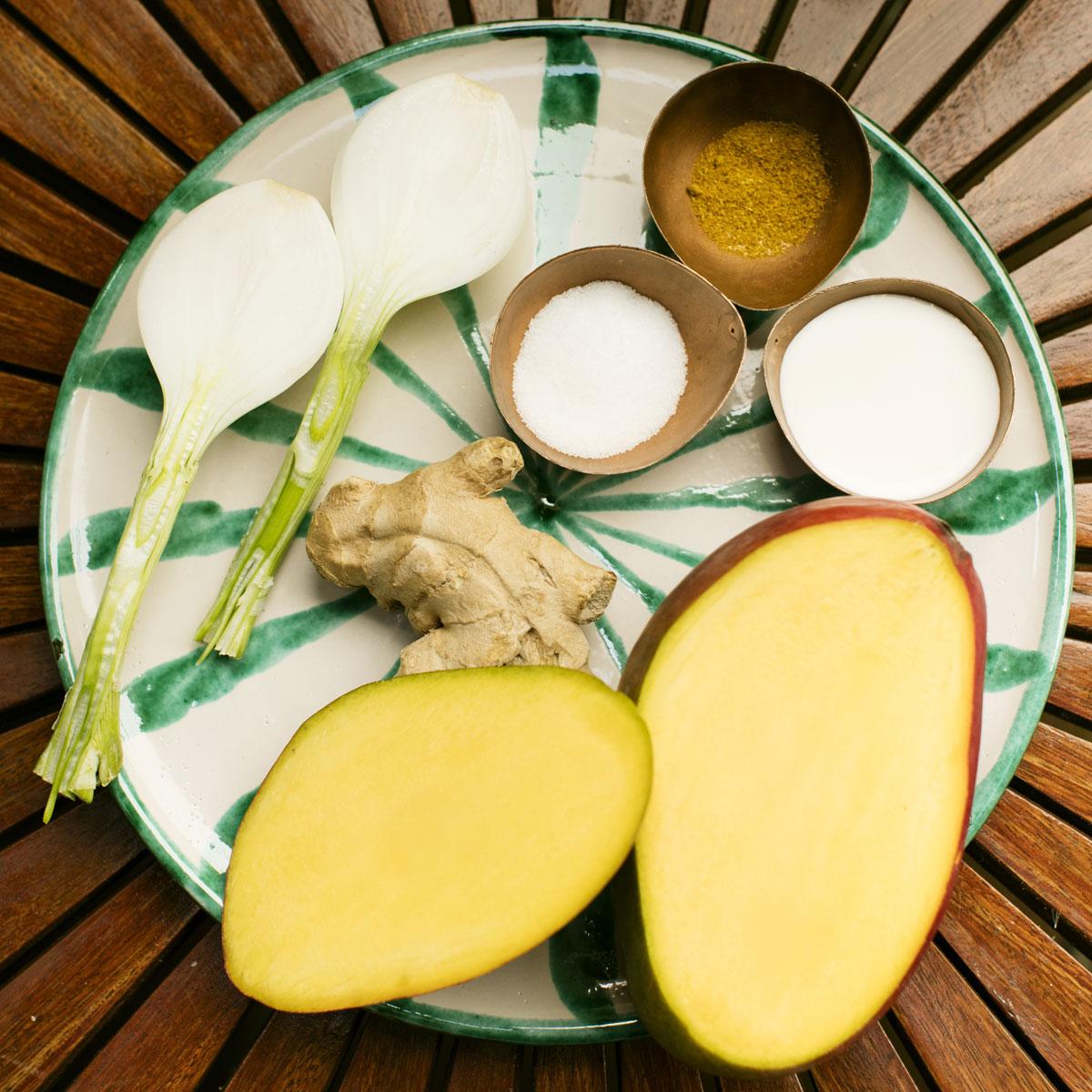Salsa de curry  y mango