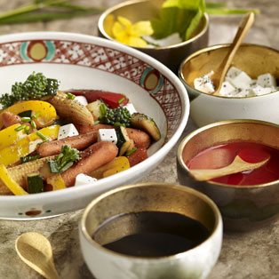 Salteado de vegetales y salsa agridulce