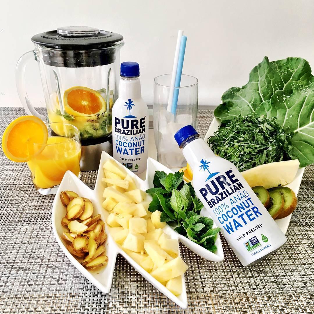 Haz tus zumos con Pure Brazilian Agua de Coco.