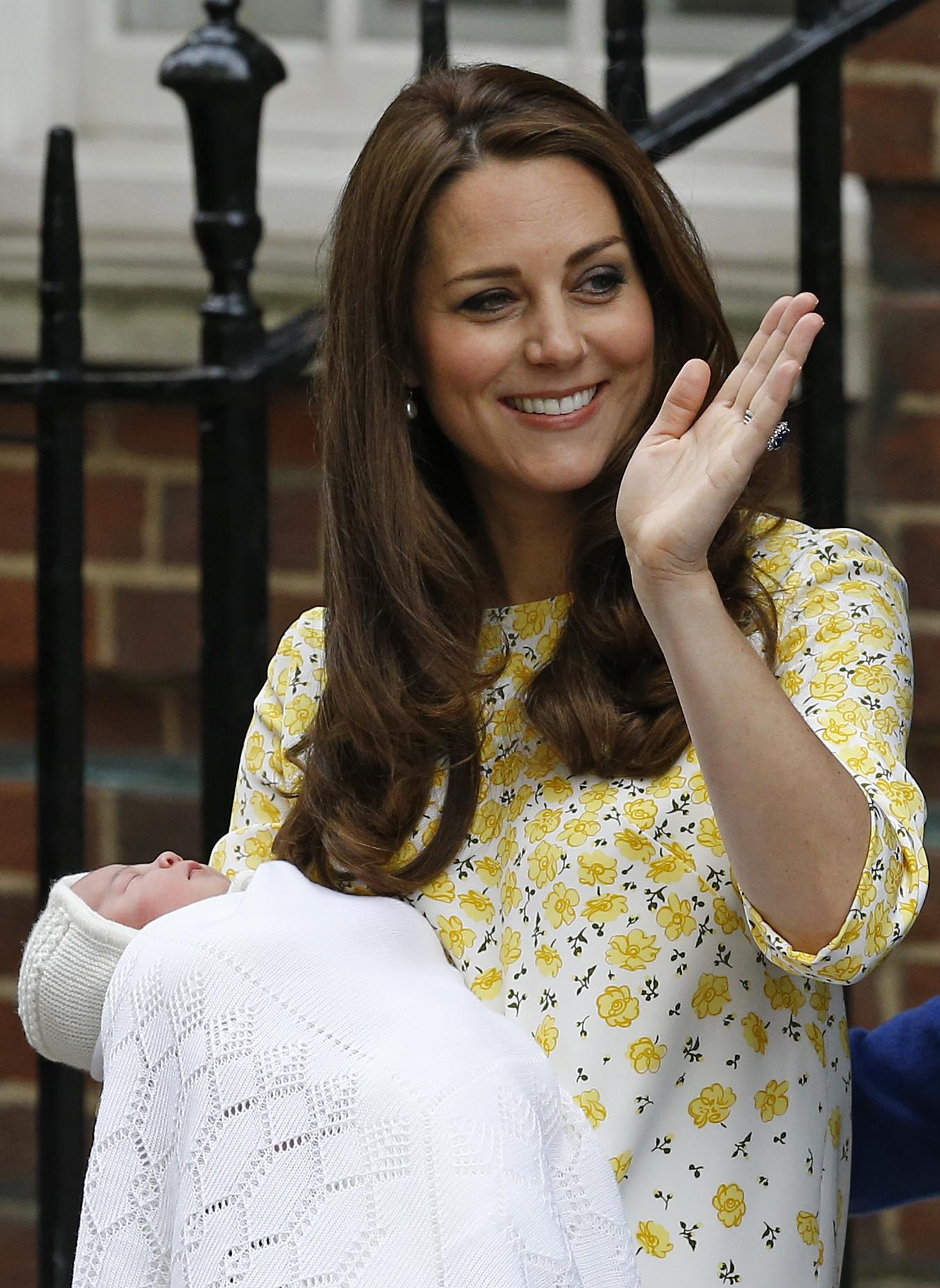 Kate Middleton y Charlotte de Inglaterra