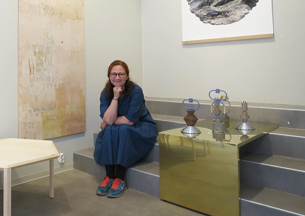 Katja Hagelstam en su tienda Lokal, en pleno districo del diseño.