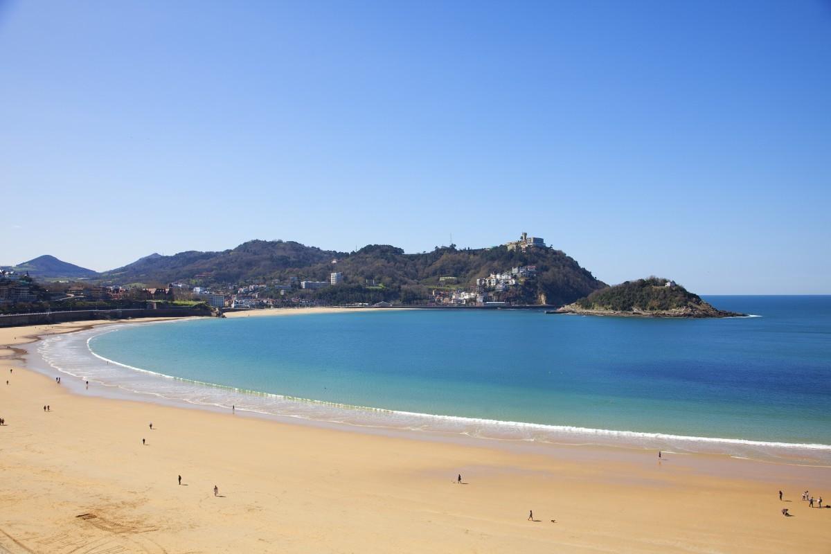 La playa de La Concha, en San Sebastián