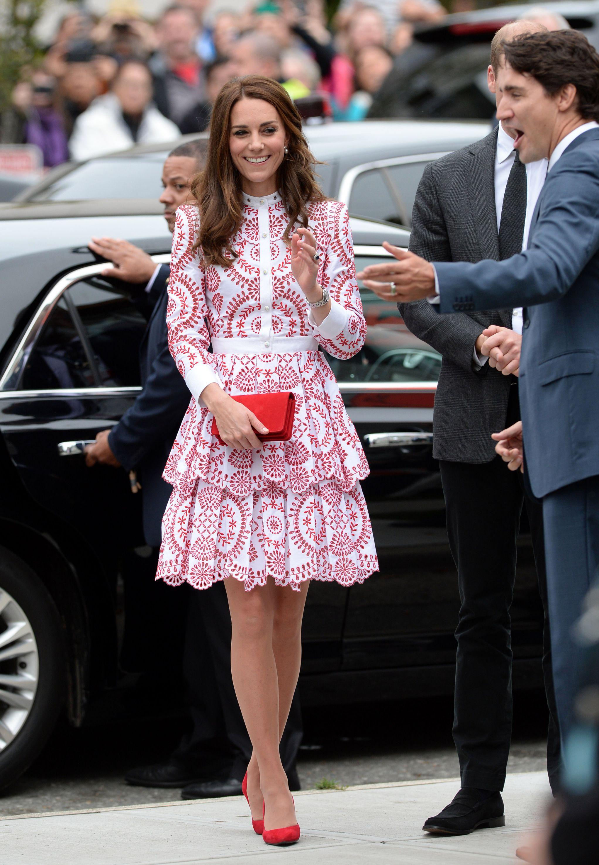 Kate Middleton con un diseño de Alexander McQueen.