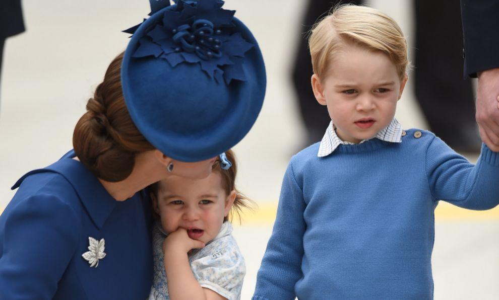 Kate Middleton junto a sus hijos en Canadá.