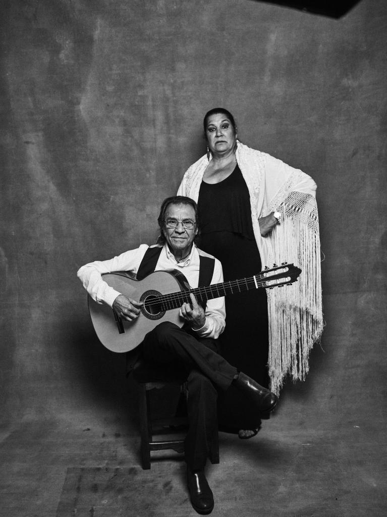 El patriarca del clan, Pepe Habichuela, y su mujer Amparo.