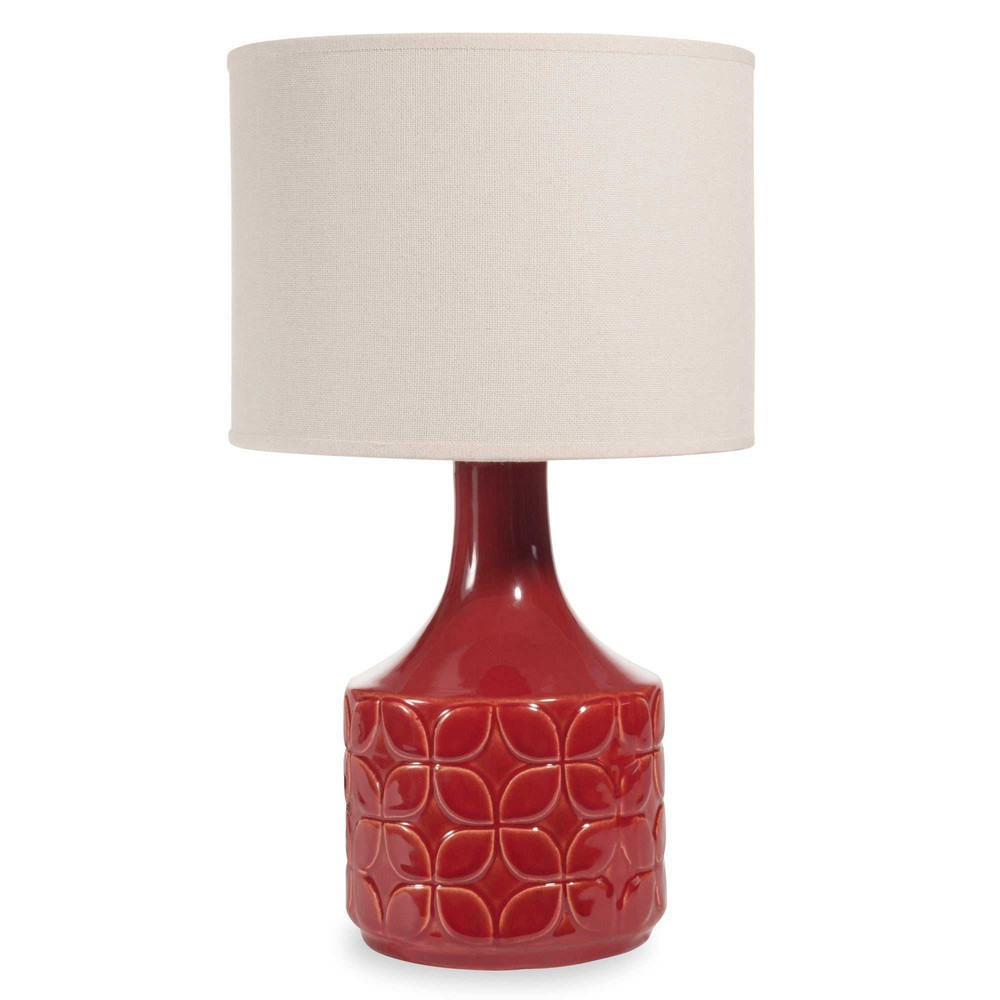 Lámpara de cerámica roja de Maisons du Monde