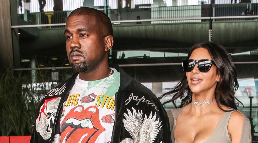 Kanye West con su mujer, Kim Kardashian