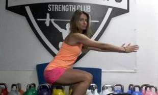 La Sport Angel, Gema G. Marcos, entrenando su plan de tres ejercicios.