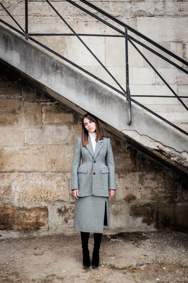 Uno de los outfits de Balenciaga