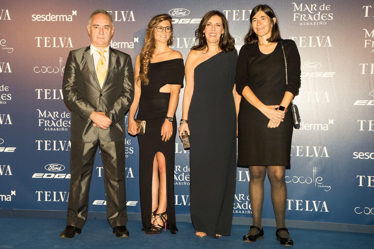 Ferran Adriá, Gisela Pulido y María A. Blasco junto a Olga Ruiz,...