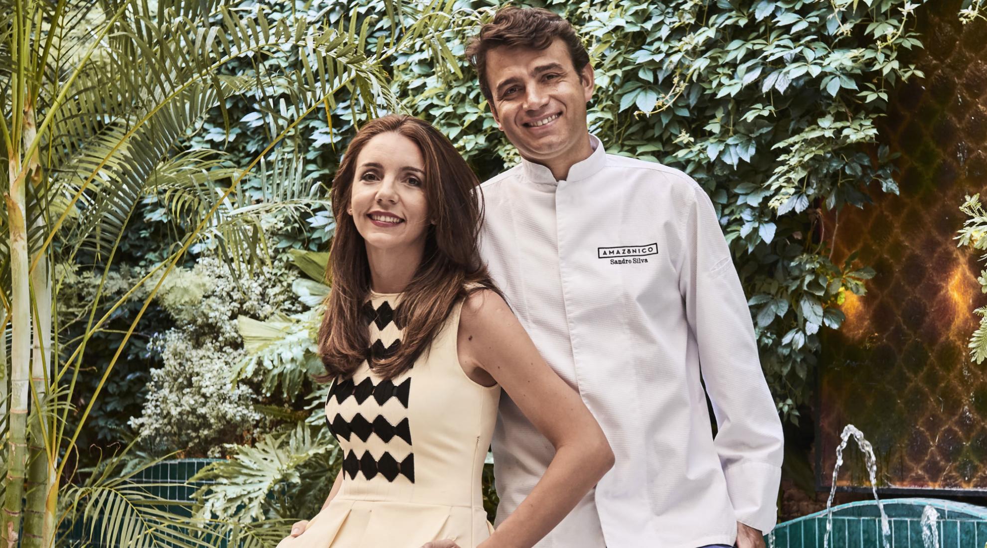 Marta Seco y Sandro Silva, propietarios de Amazónico