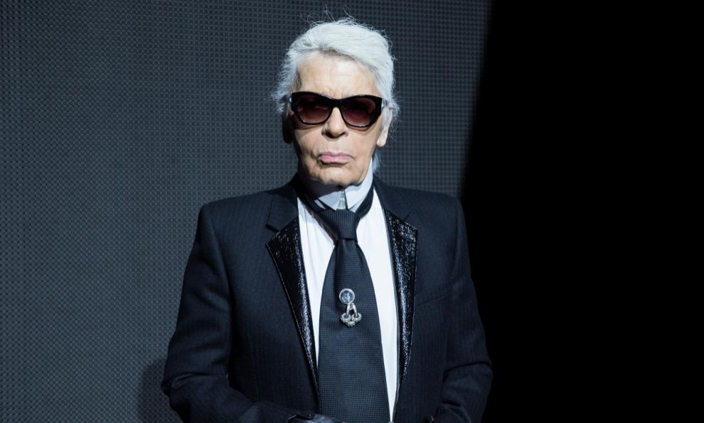 Karl Lagerfeld en la semana de París de 2016