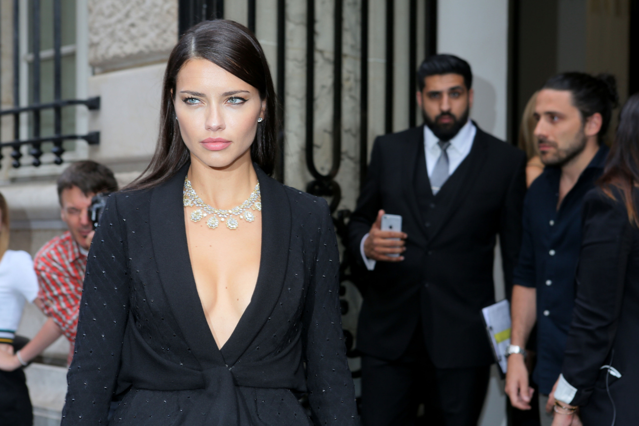 Adriana Lima  en la París Fashion Week