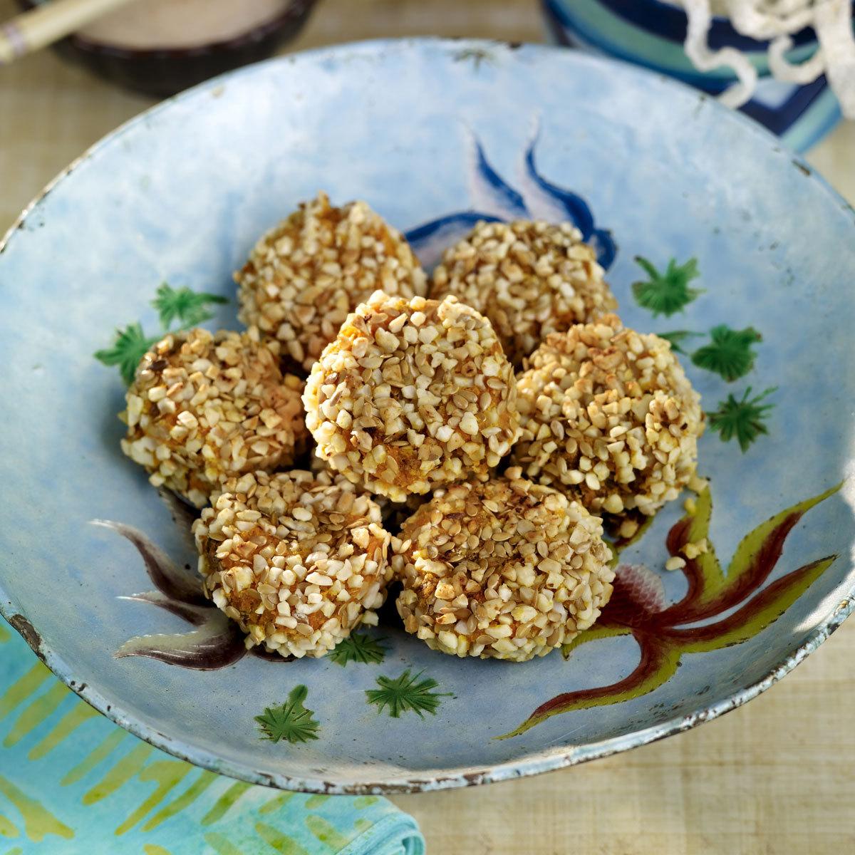 Bocaditos de calabaza con semillas de sésamo