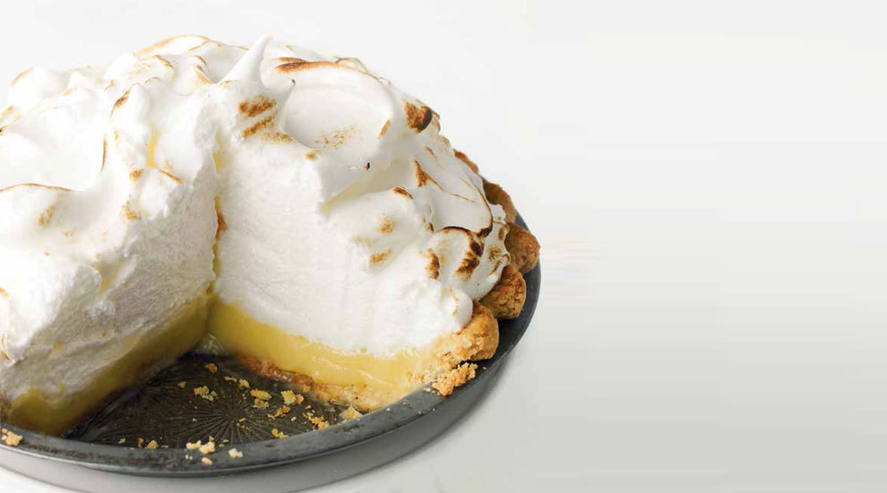 Tarta de limón y merengue, de Martha Stewart.