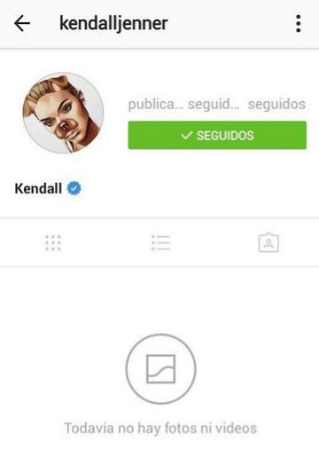 Instagram de Kendall Jenner