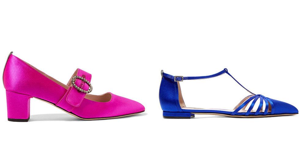 La colección también cuenta con zapatos planos.