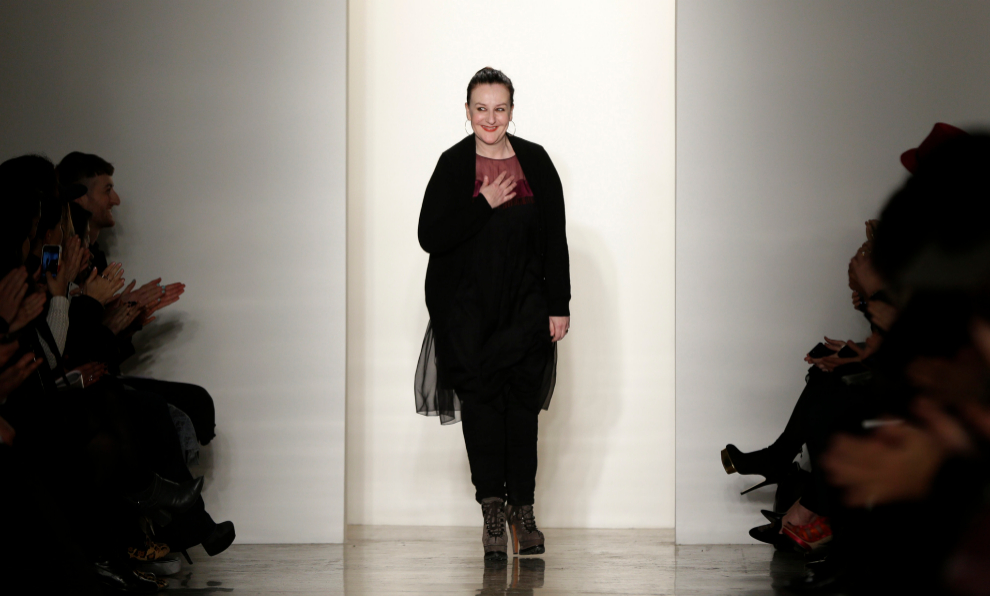 La diseñadora Sophie Theallet en la New York Fashion Week.